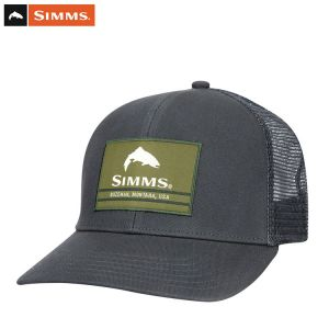 CASQUETTE SIMMS ORIGINAL PATCH TRUCKER CARBON