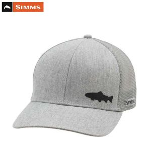 CASQUETTE SIMMS PAYOFF TRUCKER TROUT HEATHER GREY
