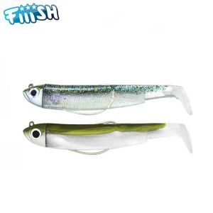 DOUBLE COMBO FIIISH BLACK MINNOW 70 SHORE 3GR KAKI - GHOST MINNOW