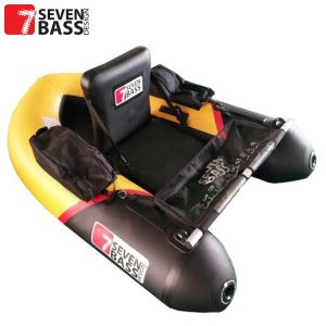 FLOAT TUBE SEVEN BASS BRIGAD 160 RACING NOIR/JAUNE