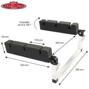 PORTE CANNE INCLINABLE PIKE'N BASS POUR FLOAT TUBE ALU/MOUSSE