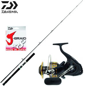 ENSEMBLE LANCER EXO DAIWA SALTIST + BG 5000 + J-BRAID X8 28/100