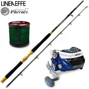 ENSEMBLE ELECTRIQUE DE PECHE GRAND FOND LINEAEFFE FISHING FERRARI