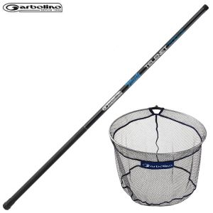 ENSEMBLE MANCHE FLASH GARBOLINO TELENET 4.00M + TETE D'EPUISETTE LEADER MATCH 40CM