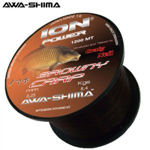 NYLON AWA-SHIMA ION POWER BROWNY CARP 1200 M
