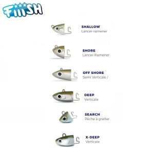 TETE PLOMBEE FIIISH BLACK MINNOW 70MM