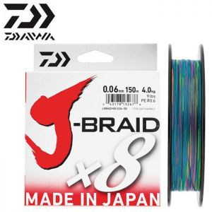 TRESSE DAIWA J-BRAID X 8 MULTICOLORE 150M