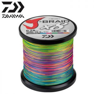 TRESSE DAIWA J-BRAID X 8 MULTICOLORE 1500M