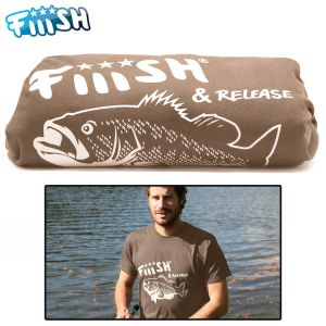 T-SHIRT FIIISH BLACK BASS NOISETTE
