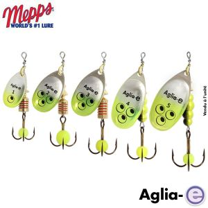 CUILLER MEPPS AGLIA-E ARGENT CHARTREUSE