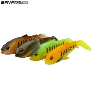 KIT LEURRES SOUPLES SAVAGE GEAR CRAFT CANNIBAL PADDLETAIL 12,5CM DARK WATER