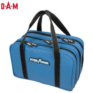 SAC DE TRANSPORT DAM STEELPOWER BLUE WATER REPELLENT LURE BAG