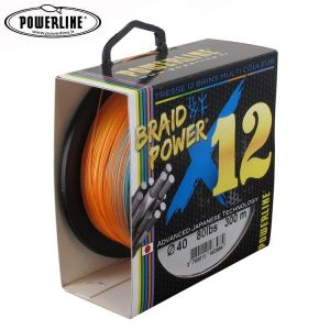 TRESSE POWERLINE BRAIDPOWER 12 BRINS MULTICOLORE 450M