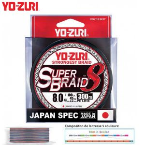TRESSE YO-ZURI SUPERBRAID 8X MULTICOLORE 300M