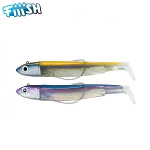 DOUBLE COMBO FIIISH BLACK MINNOW 120 - OFF SHORE 25GR - OR/BLEU + RATTLE - RAINBOW + RATTLE