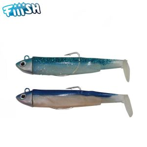 DOUBLE COMBO FIIISH BLACK MINNOW 120 - SEARCH 18GR - BLUE LAGON + RATTLE - BLEU/ROSE + RATTLE