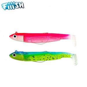 DOUBLE COMBO FIIISH BLACK MINNOW 70 - OFF SHORE 6GR - ROSE FLUO - SLEEPY GREEN