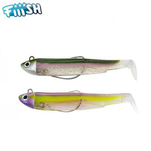 DOUBLE COMBO FIIISH BLACK MINNOW 90 - SEARCH 8GR - GREEN MORNING - PURPLE IMPACT