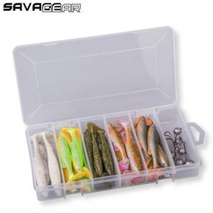 KIT LEURRES SAVAGE GEAR FAT MINNOW T-TAIL