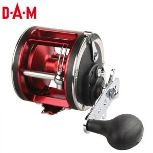 MOULINET DAM QUICK STEELPOWER RED TROLLING LH