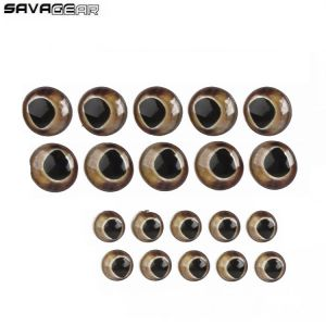 YEUX DE RECHANGE SAVAGE GEAR SPARE TROUT EYES KIT 40PCS