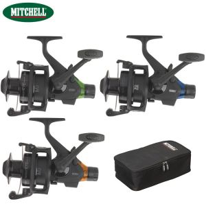 COFFRET 3 MOULINETS CARPE DEBRAYABLE MITCHELL AVOCET RTE FS BLACK EDITION