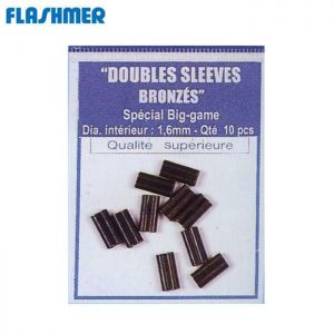 10 SLEEVES DE PECHE FLASHMER DOUBLES