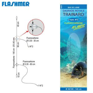 BAS DE LIGNE FLASHMER DAURADE ROYALE ATLANTIC AVEC TRAINARD