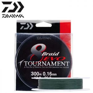 TRESSE DAIWA TOURNAMENT 8 BRAID EVO VERT 300M