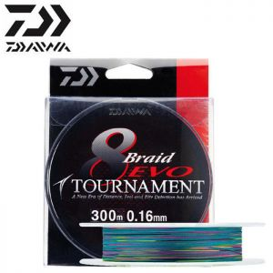 TRESSE DAIWA TOURNAMENT 8 BRAID EVO MULTICOLOR 300M