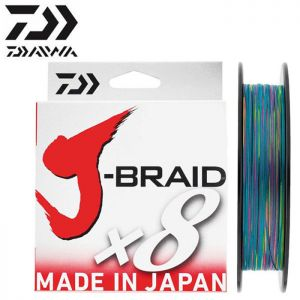 TRESSE DAIWA J-BRAID X 8 MULTICOLORE 300M