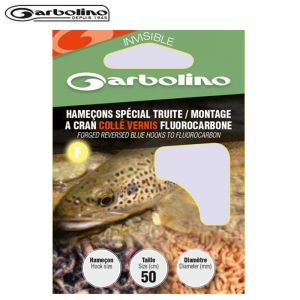 HAMECONS GARBOLINO SPECIAL TRUITE / MONTAGE A CRAN COLLE VERNIS FLUOROCARBONE