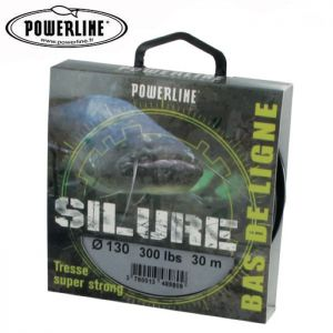 TRESSE A BAS DE LIGNE POWERLINE SILURE 30M