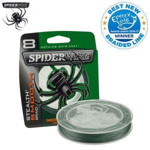 TRESSE SPIDERWIRE STEALTH SMOOTH 8 MOSS GREEN 300M