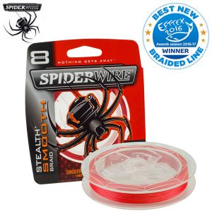 TRESSE SPIDERWIRE STEALTH SMOOTH 8 RED 300M