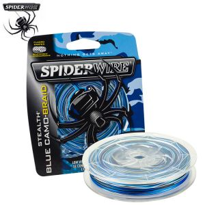 TRESSE SPIDERWIRE STEALTH BLUE CAMO 137M