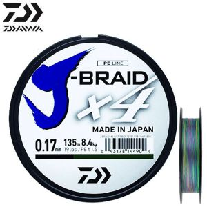 TRESSE DAIWA J-BRAID X4 150M MULTICOLOR