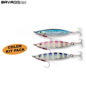 KIT DE 3 LEURRES CASTING JIG SAVAGE GEAR PSYCHO SPRAT