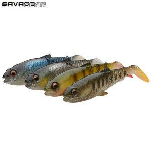KIT LEURRES SOUPLES SAVAGE GEAR CRAFT CANNIBAL PADDLETAIL 12,5CM CLEAR WATER