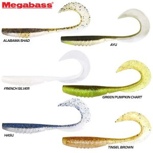 LEURRE MEGABASS X-LAYER CURLY 3.5