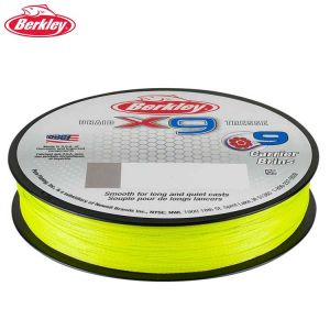 TRESSE BERKLEY X9 BRAID JAUNE FLUO