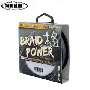 TRESSE POWERLINE BRAID POWER GRISE 1000M 35/100