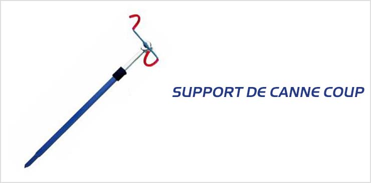 Support canne coup